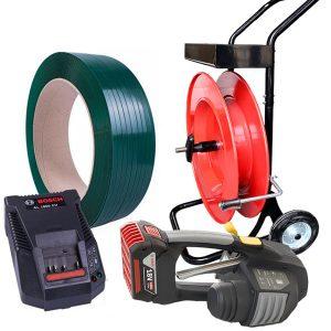 Batterie Umreifungsgerät MB620 Set PET-Band + Spender + Akku + Ladegerät